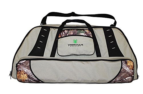 Deluxe Double Bow Case (Tarantula Deluxe Bow Case with Tackle Box Stone (Camo/Mixed Color, Double))