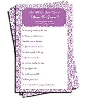 Amazon.com : Wedding Advice and Well Wishes - Bridal Shower ...
