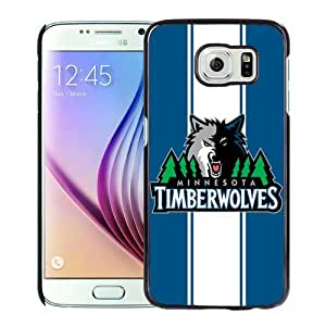 Popular Custom Designed Case For Samsung Galaxy S6 With Minnesota Timberwolve 1 Black Phone Case