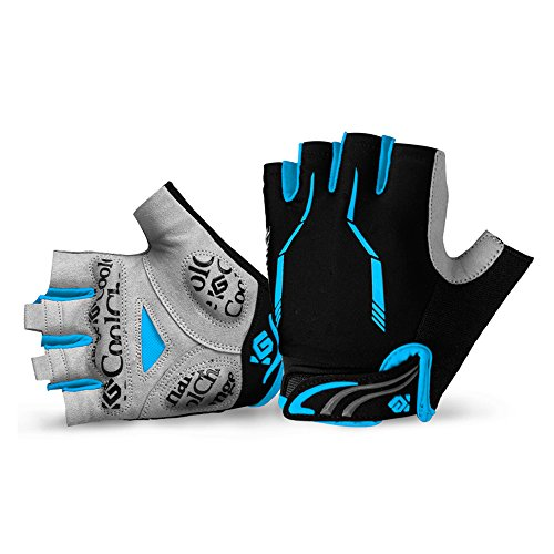 Cool Change Cycling Gloves Mountain Bike Gloves SBR Pad Shockproof | Anti- Slip | Breathable Biking Gloves Sports Half Finger Bicycle Gloves for Men (Short Finger Bike Gloves)