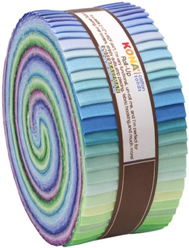 Fabric Strips Quilt (Robert Kaufman 2-1/2in Strips Roll Up Kona Solids Sunset Palette 43Pcs)