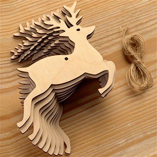 Christmas Deer Ornament (Meolin 11PCS Christmas Decorations Christmas Ornaments Christmas Tree Hanging Deer Elk Snowman Angel Hanging Card)