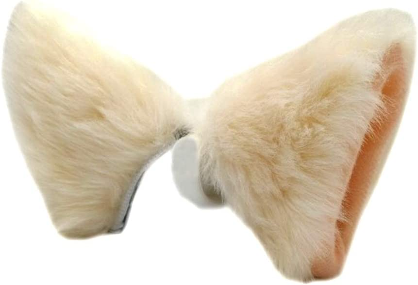 ONECHANCE Cat Fox Fur Ears Hair Clip Headwear Anime Cosplay Halloween Costume Color All black Size One Size