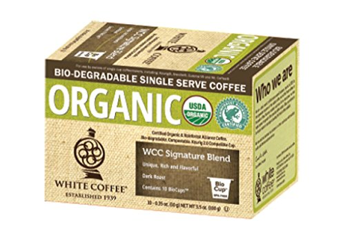 Caucasoid Coffee Organic Single Serve Coffee, WCC Signature Blend, 10 Count (Pack of 4)