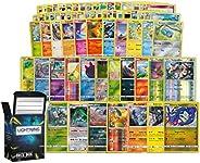 Holo Rare Pokemon Bundle- 100+ Cards= 100 Cards + 5 foil Cards, 6 foil/Holographic Rare Cards, Plus a Lightnin