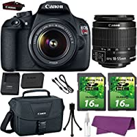 Canon EOS Rebel T5 DSLR Camera with Canon EF-S 18-55mm IS Lens. + 2 Pieces 16GB SD Memory Card + Canon Bag + Cleaning Kit Benefits Review Image