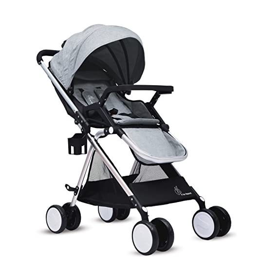 R for Rabbit Giggle Wiggle - The Feather Lite Stroller and pram for Baby/Kids (Grey)