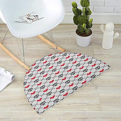 直営店に限定 スカルバスマット 床用 現代的 イラスト スモーキー 47.2
