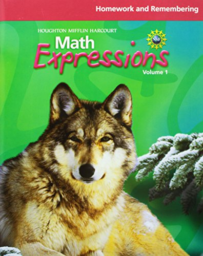Math Expressions: Homework and Remembering Workbook Volume 1 Grade 6 (Math Expressions Homework And Remembering Grade 1)
