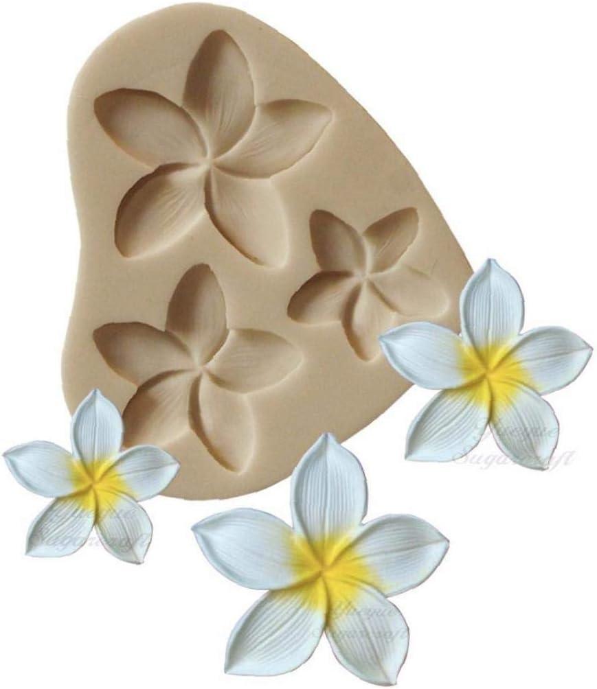 Plumeria Flower Silicone Mold Fondant Chocolate Sugarcraft Baking Decor Moulds