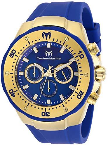 Technomarine Men's Manta Sea Stainless Steel Quartz Watch with Silicone Strap, Blue, 30 (Model: TM-218031)