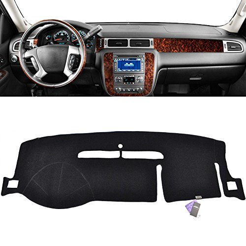XUKEY Dashboard Cover For Chevrolet Tahoe Suburban 2007-2013 Dash Cover Mat
