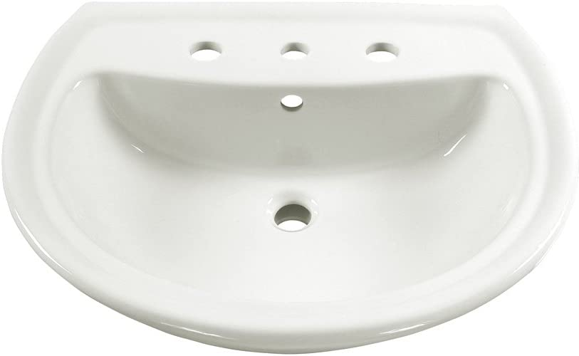 American Standard 0236008 020 Cadet Pedestal Lavatory Top With 3