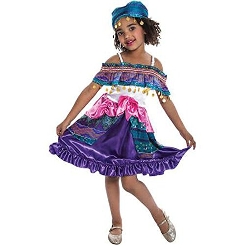 Gypsy Girl Costume M Child Dress Up Halloween Fortune Teller Halloween