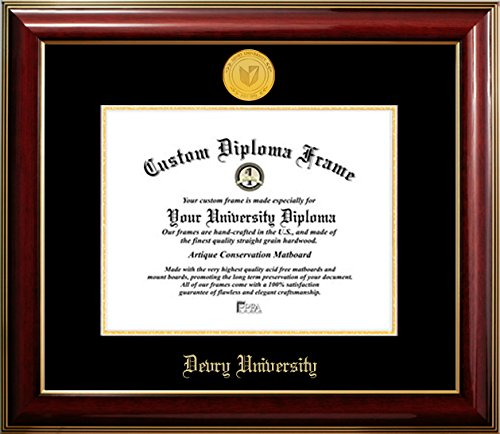 devry-university-22k-gold-medallion-diploma-frame-85-x-11