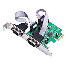 2 Port RS232 RS-232 Serial Port COM to PCI-E PCI Express Card Adapter Converter AX99100 Chipset