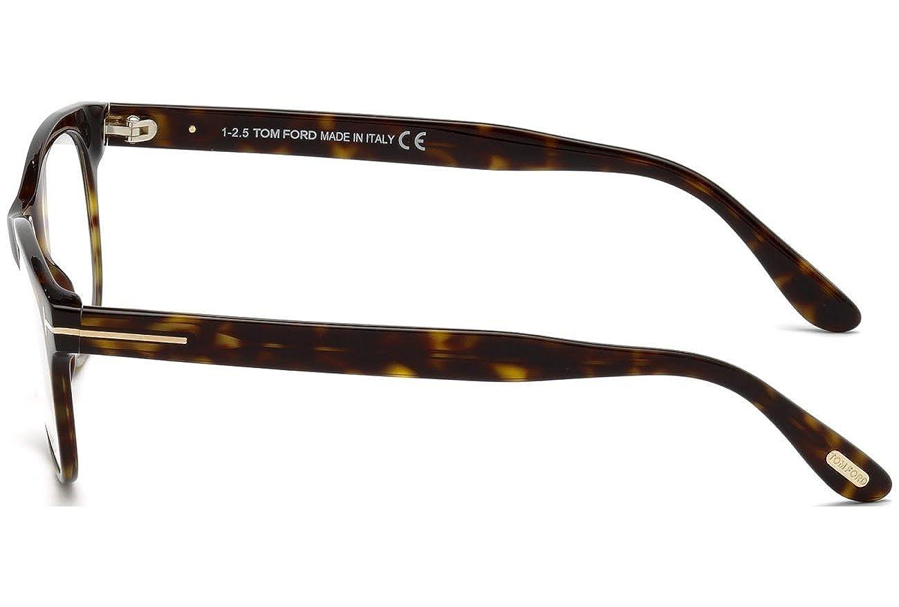 bca4f88e80e7 Amazon.com  Tom Ford Round Eyeglasses TF5399 052 Havana Gold 54mm FT5399   Clothing