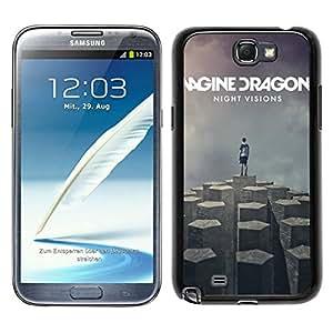 Imagine Dragons Black Unique Abstract Custom Samsung Galaxy Note 2 N7100 Case