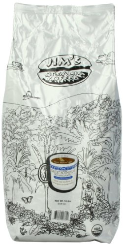 Jim's Sweet Nothings Decaf Coffee, Organic, 5-Pound by Jim's Organic Coffee