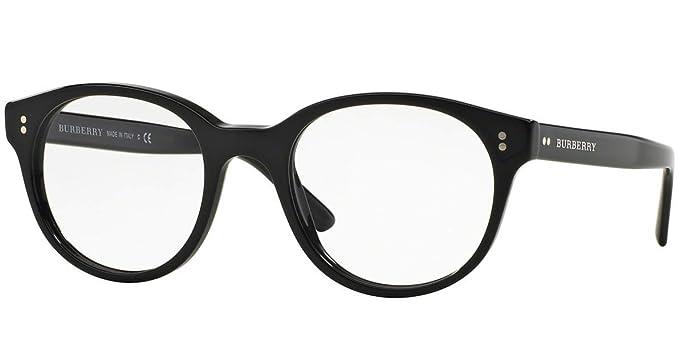 4f6de5638f Burberry Men s Optical Frame Acetate Black Frame Transparent Lens Non-Polarized  Glasses 50 0