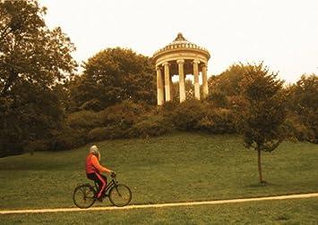 Münchner Fotokunst Klappkarte Mit Monopteros Im Englischen Garten