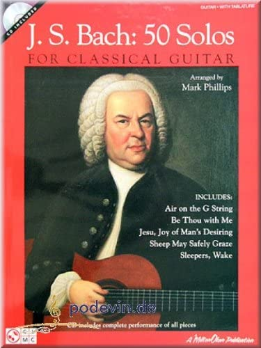 J.S. Bach 50 Solos For Classical Guitar – Guitare [Partition ...