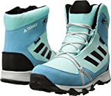 adidas Outdoor Unisex-Kids Terrex Snow CP CW K Hiking Shoe, Clear Aqua/Black/Vapour Blue, 3.5 Child US Big Kid