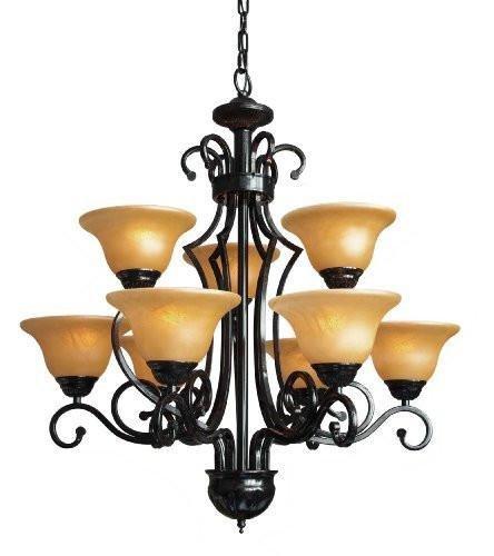 Amazon.com: Araña de hierro forjado iluminación lámparas de ...