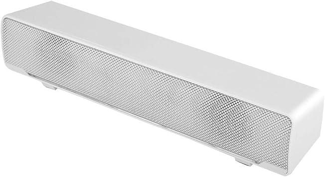 Barra de Sonido USB TV, Sonido estéreo 3D Mini Barra de Sonido con Sonido Envolvente de Bajos con luz de respiración LED Compatible con TV, Escritorio, computadora portátil (White): Amazon.es: Electrónica