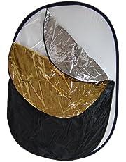 Set Fondo Reflector Difusor Plegable DynaSun WS2002 5en1 91x122 Blanco Negro Plata Oro para Estudio
