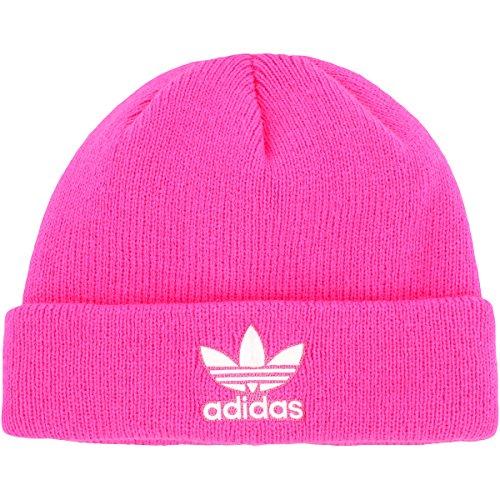 new concept b4492 10928 Galleon - Adidas Men s Originals Trefoil II Knit Beanie, Solar Pink White,  One Size