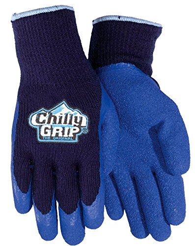 Chilly Grip®, Red Steer A311, Blue Heavy Duty Textured Rubber Palm, 3 Pairs Per Pack - Grip Chilly
