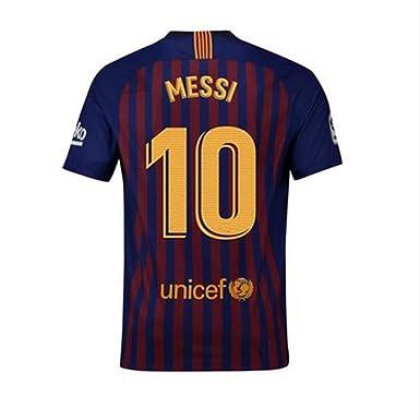 57f3919bfab Nocopy-js 2018-2019 Barcelona  10 Messi Fans Soccer Jersey Mens Home Color