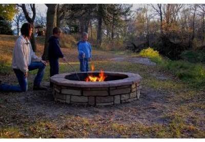 Amazon.com : 60 In. Concrete Random Stone Brown Round Fire ...