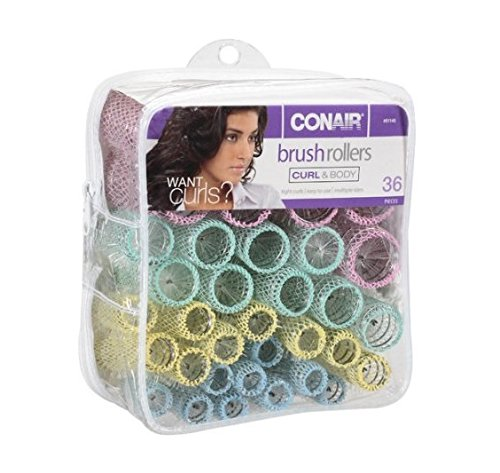 conair brush rollers - 51tdOwzUXSL - Conair Brush Rollers, Curl & Body 36 pieces