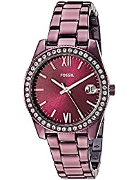 Fossil Women's 'Scarlette' Quartz Stainless Steel Casual Watch, Color:Red (Model: ES4320)