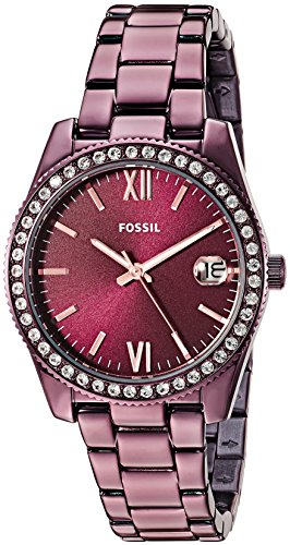 Fossil-Womens-Scarlette-Quartz-Stainless-Steel-Casual-Watch-ColorRed-Model-ES4320