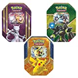 Heroic Pokémon-EX Power Up! Trading Card Game Collector's Edition Yellow Pack Tins: Pikachu-EX, Mewtwo-EX, Zygarde-EX