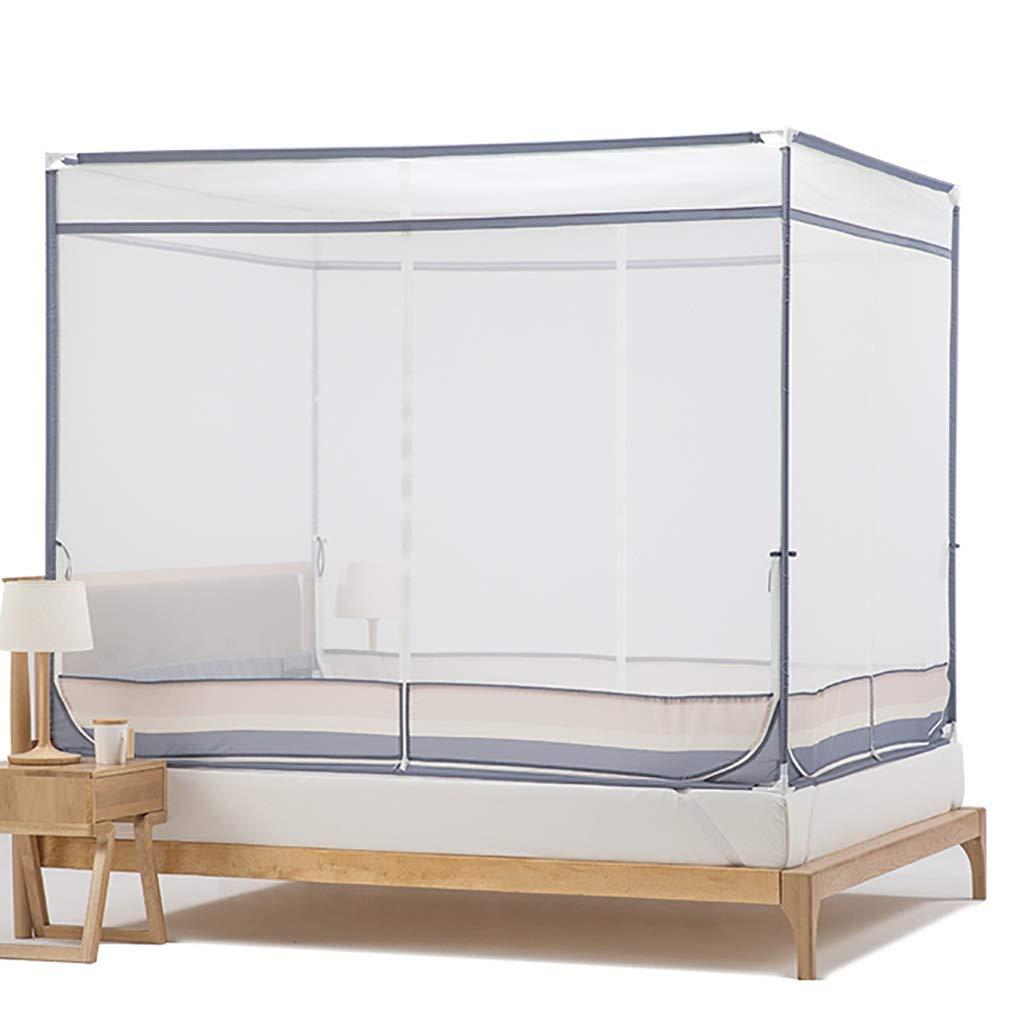 蚊帳ネットベッド360°アンチモスキートは子供たちがサスペンションキットスクエアトップ昆虫ネット1.7メートルの高さをインストールするために3つの入り口から落ちるのを防ぐことができます (サイズ さいず : 200*220*170CM) B07S48MH4W  200*220*170CM