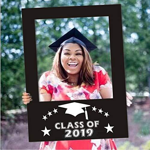 BinaryABC Graduation Photo Booth Picture Frame, Class of 2019 Photo Booth Props,Graduation -