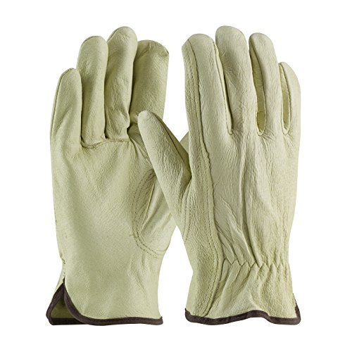 (3 Pack PIP® Industry Grade Top Grain Pigskin Leather Driver's/Work Glove with Keystone Thumb Sizes S-XL (Large))