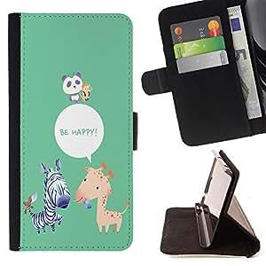 Dragon Case - FOR Samsung Galaxy Note 3 III - be happy - Caja de la carpeta del caso en folio de cuero del tir¨®n de la cubierta protectora Shell