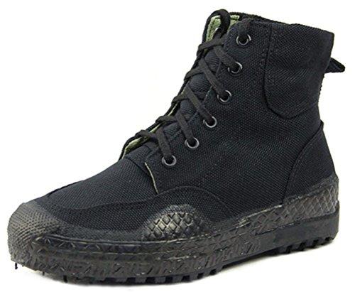 Asso Shock Army Shoes Uomo Camouflage, Antiscivolo Lace Up Canvas Shoe Work Usa Stivali Militari High-top 3 Colori Taglia 6-9 Nero