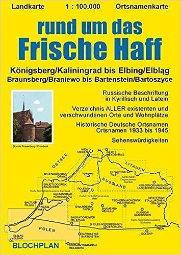 Königsberg Kaliningrad Karte.Landkarte Rund Um Das Frische Haff Königsberg Kaliningrad Bis