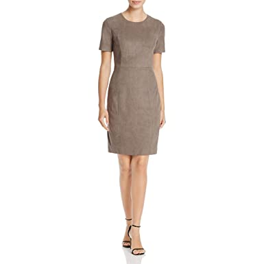 d532a3e4bcd8 Elie Tahari Womens Emily Faux Suede Short Sleeves Casual Dress Gray 0 at  Amazon Women's Clothing store: