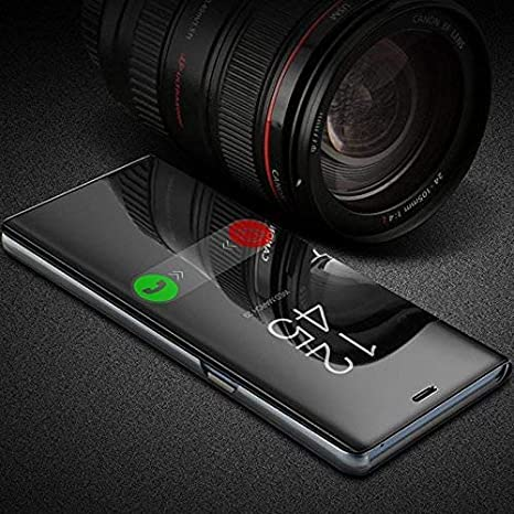new concept d9126 4b5be Cover Villa 4 Season Mirror Standing Flip Cover Black: Amazon.in ...