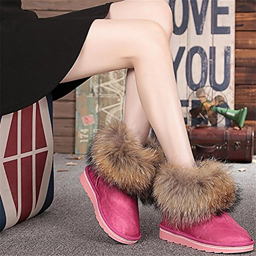 Caldo aumentati Donna 39 arcobaleno 38 da 2 metri I Fatto Impermeabile NVX Antiscivolo Mini NeveColore Pelle Piccoli rosso Tenere di a Inverno sono Stivali jeans Mano wIxqUF