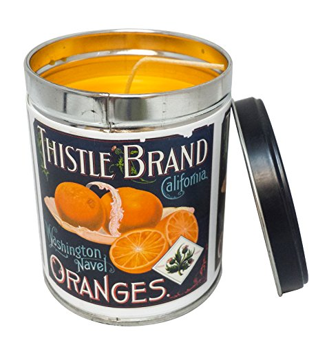 Our Own Candle Company Orange Creamsicle Scented Candle in 13 Ounce Tin with a Thistle Brand Label (Candles Orange Scented)