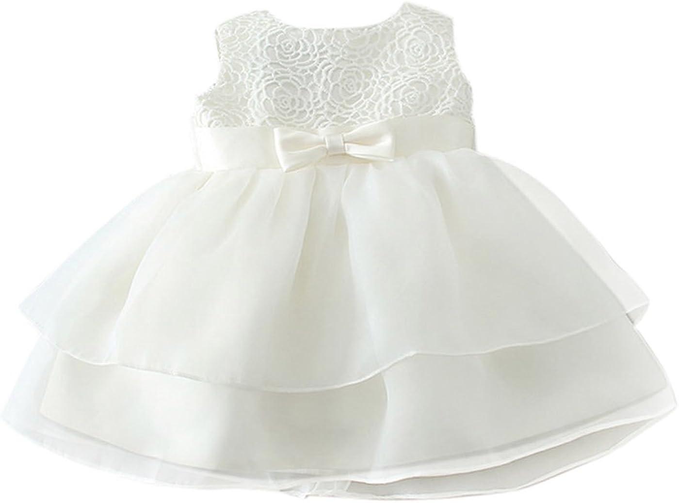 Happy Cherry Bebés Niñas Vestido de Tutú Princesa Traje de Fiesta Formal Elegante para Boda Cumpleaños Fiesta Bautizo