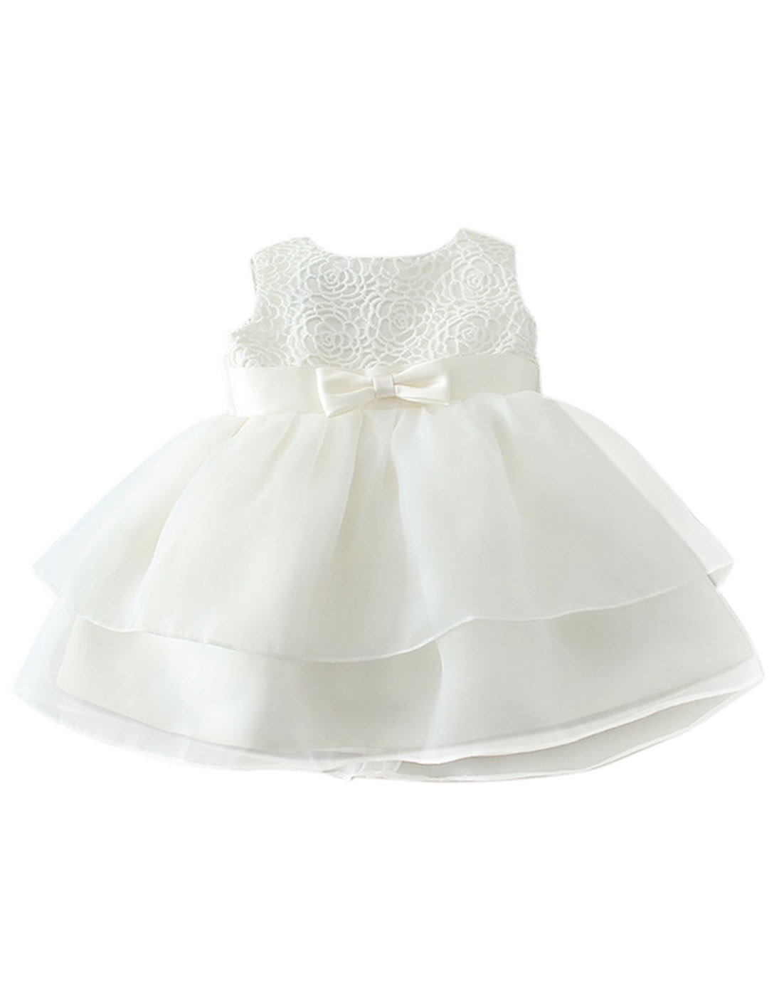 Baby Girl Princess Tulle Dress Floral Embroidery Wedding Party Pageant Dress Happy Cherry